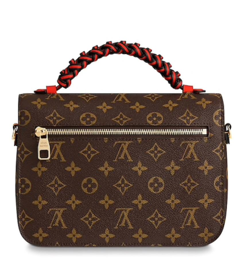f98590a29c4c Louis Vuitton Pochette Limited Edition Braided Handle Brown Red ...