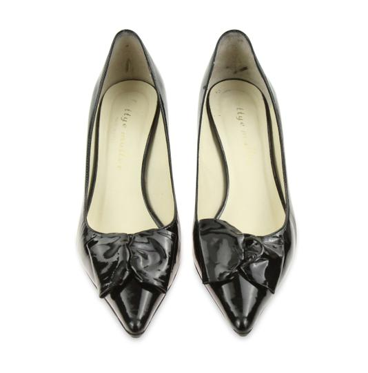 Bettye Muller Patent Leather Pointy Black Pumps Image 1