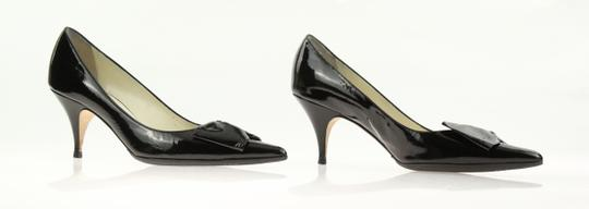 Bettye Muller Patent Leather Pointy Black Pumps Image 3