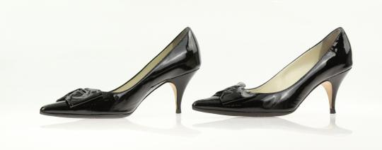 Bettye Muller Patent Leather Pointy Black Pumps Image 4