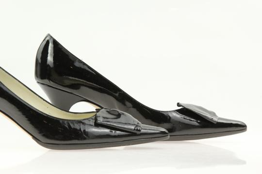 Bettye Muller Patent Leather Pointy Black Pumps Image 6