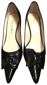 Bettye Muller Patent Leather Pointy Black Pumps