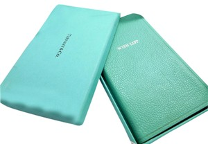 Tiffany & Co. Vintage Tiffany Blue Leather Wish Notes Journal Notebook
