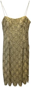Aidan Mattox Silk Embellished Sequins And Beading New With Tags Dress
