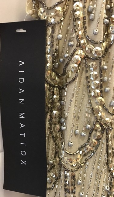 Aidan Mattox Silk Embellished Sequins And Beading New With Tags Dress Image 3