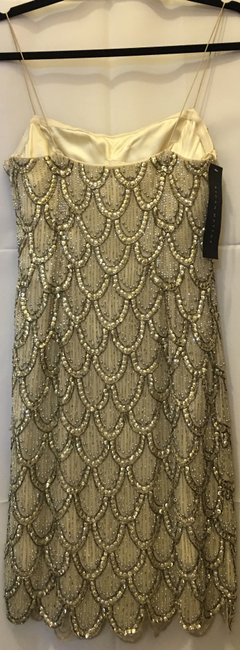 Aidan Mattox Silk Embellished Sequins And Beading New With Tags Dress Image 6