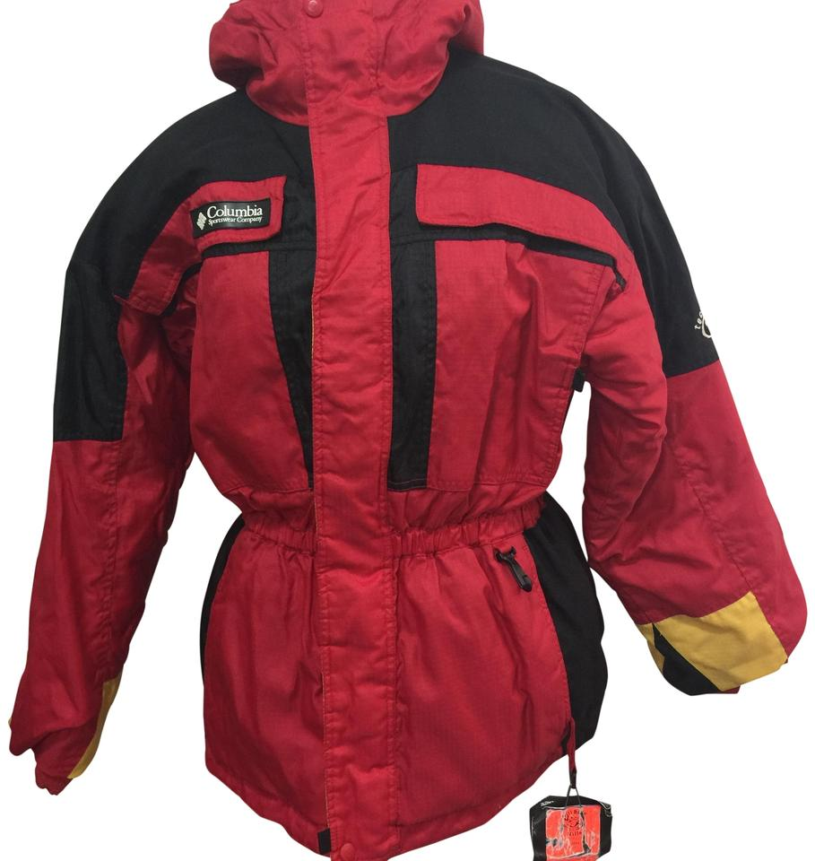 a6e9b832d05 Columbia Sportswear Company Red Black Yellow Tectonite Youth 1820 ...