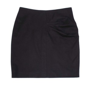 Pauw Amsterdam Draped Wool Pencil Mini Skirt Black