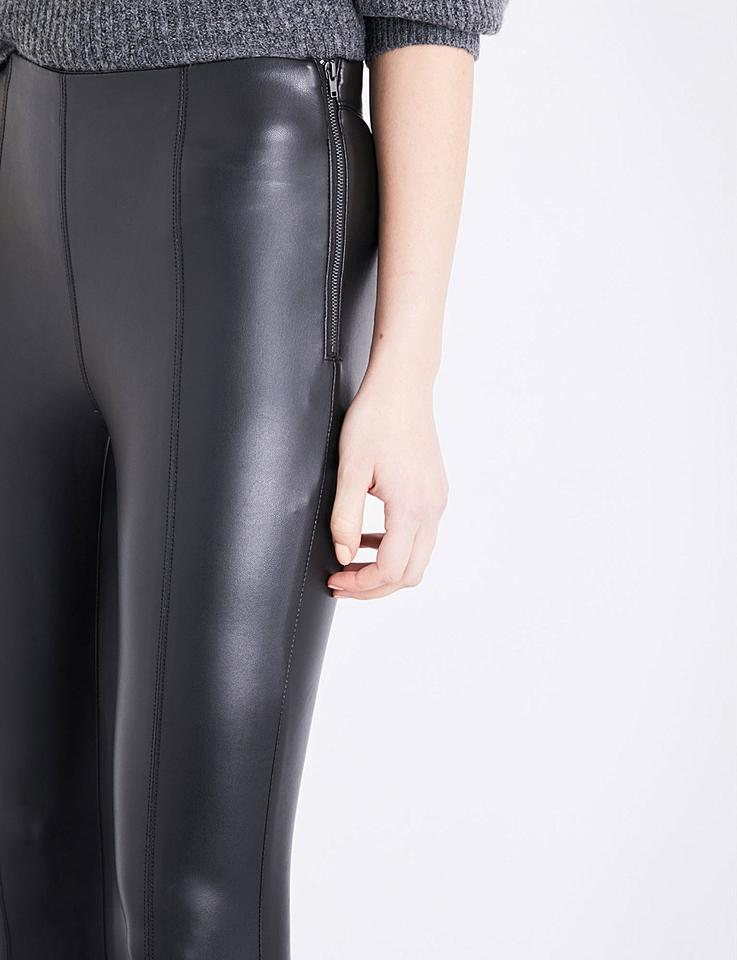 ae640ea2d2f5b8 Topshop Black New Percy Skinny Soft Faux-leather Pants Leggings Size ...