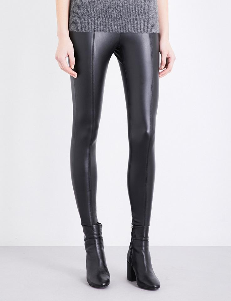 45aadebf39e3d Topshop Black New Percy Skinny Soft Faux-leather Pants Leggings Size ...