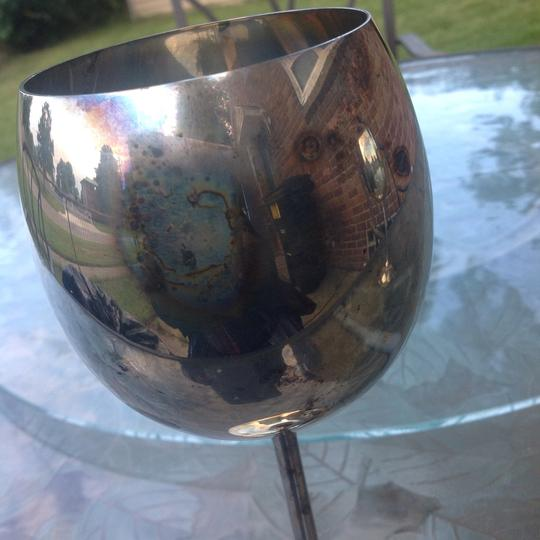 Bellini set of 2 Bellini silver plated large water goblets Image 2