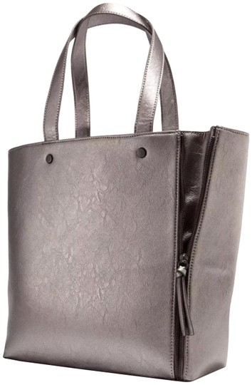 Purse Black Pewter Faux Leather