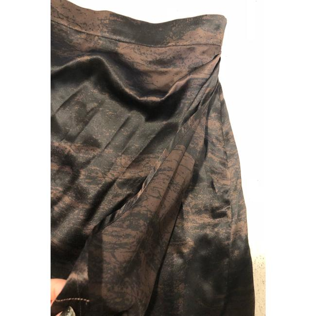 Saint Laurent Ysl Silk Wrap Skirt Brown Black Image 7