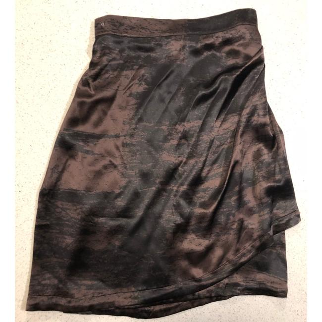 Saint Laurent Ysl Silk Wrap Skirt Brown Black Image 8