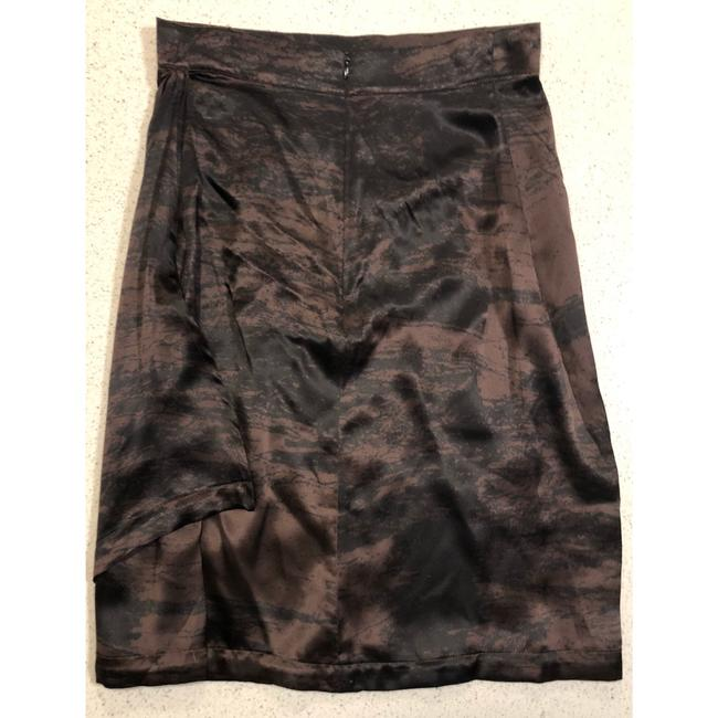 Saint Laurent Ysl Silk Wrap Skirt Brown Black Image 9