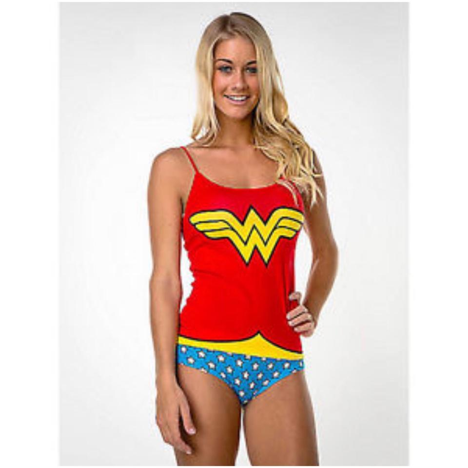 b8d16efba8 Dc comics red white blue wonder woman camisole and panty set tank jpg  960x960 Cami panty
