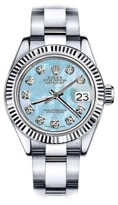 Rolex Men's Rolex 36mm Datejust Baby Blue MOP Dial with Diamond Accent