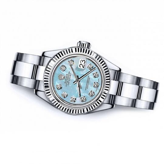 Rolex Men's Rolex 36mm Datejust Baby Blue MOP Dial with Diamond Accent Image 1