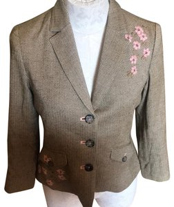 American Eagle Outfitters Olive Green/Tan/Pink Blazer