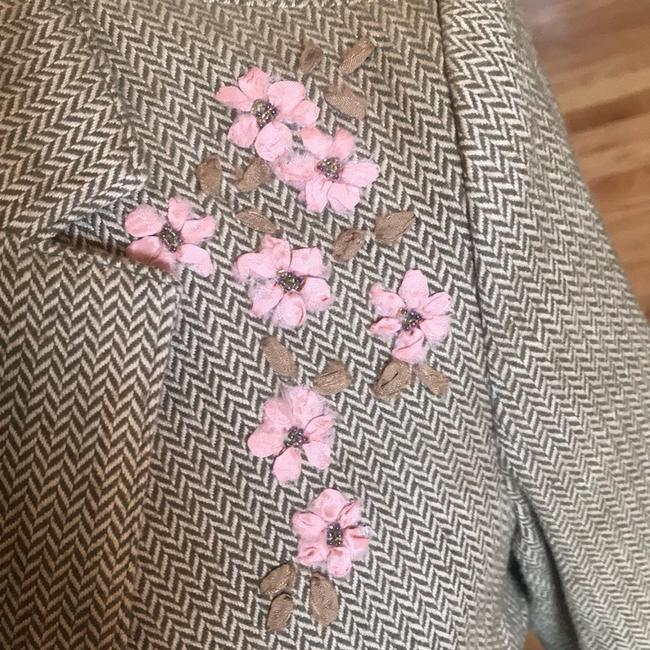 American Eagle Outfitters Olive Green/Tan/Pink Blazer Image 1