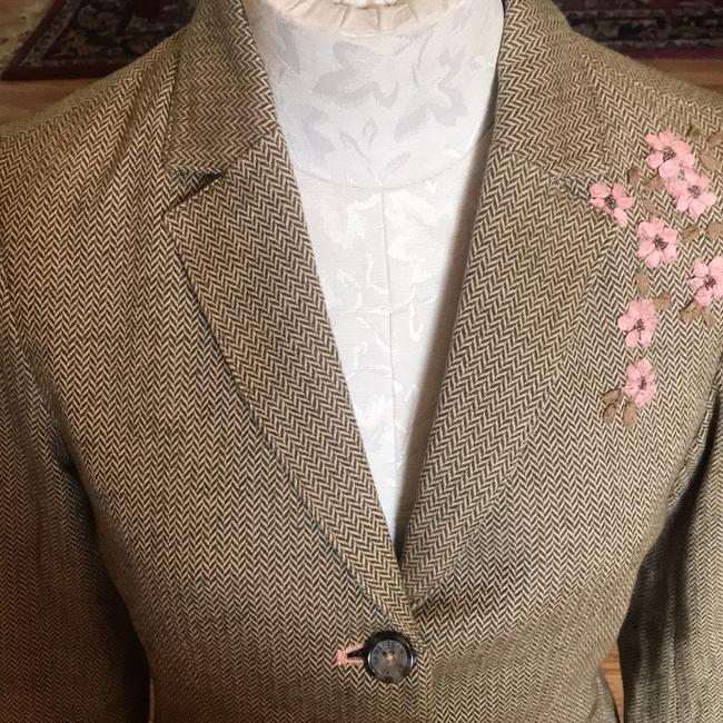 American Eagle Outfitters Olive Green/Tan/Pink Blazer Image 2