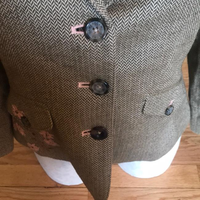 American Eagle Outfitters Olive Green/Tan/Pink Blazer Image 3