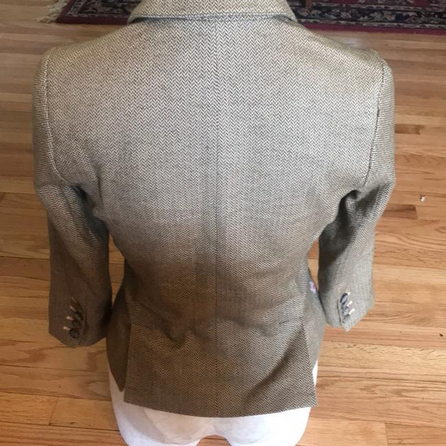 American Eagle Outfitters Olive Green/Tan/Pink Blazer Image 5