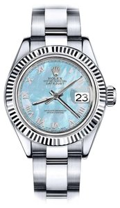 Rolex Men's Rolex 36mm Datejust Baby Blue MOP Mother Of Pearl Roman Numeral