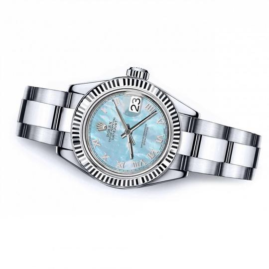 Rolex Men's Rolex 36mm Datejust Baby Blue MOP Mother Of Pearl Roman Numeral Image 1
