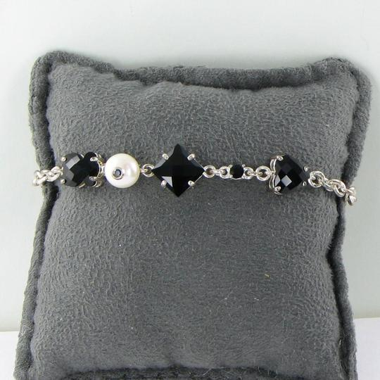 TOUS 513631520 Erma Bracelet Sterling Silver Chain Onyx Pearl Image 1