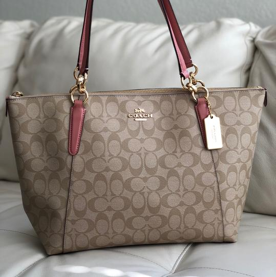 Coach Tote in Vintage Pink/Light Khaki Image 2