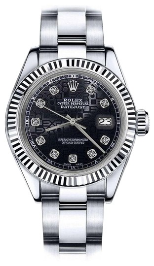 Preload https://img-static.tradesy.com/item/24100303/rolex-stainless-steel-men-s-36mm-datejust-black-color-dial-with-diamond-accent-watch-0-1-540-540.jpg