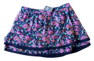 Abercrombie & Fitch Flowers Mini Skirt Blue