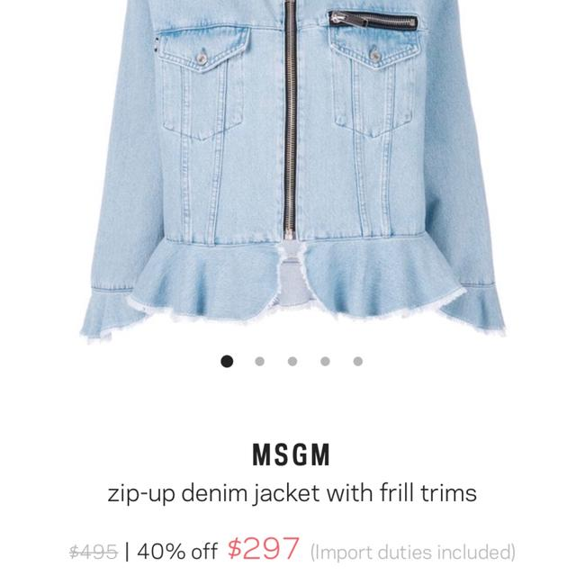 MSGM lt. denim Womens Jean Jacket Image 4