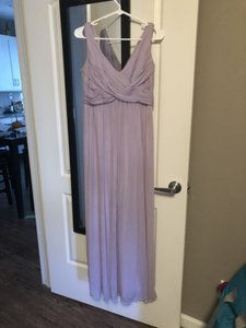 David's Bridal Iris F15933 Cowl Back Floor Length Traditional Bridesmaid/Mob Dress Size 6 (S)
