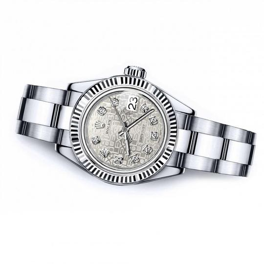 Rolex Men's Rolex 36mm Datejust Diamond Dial with Silver Jubilee Metal Image 1