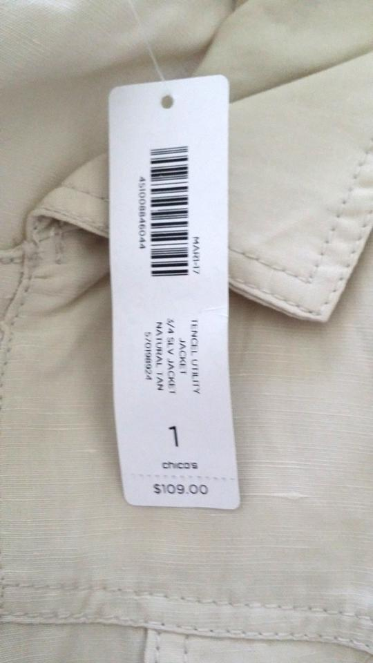 8 Natural Tan NWT Sizes 1 CHICO/'S Tencel Utility Jacket