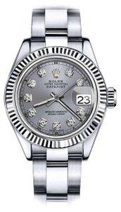 Rolex Men's Rolex 36mm Datejust Grey Color Dial with Diamond Accent RT