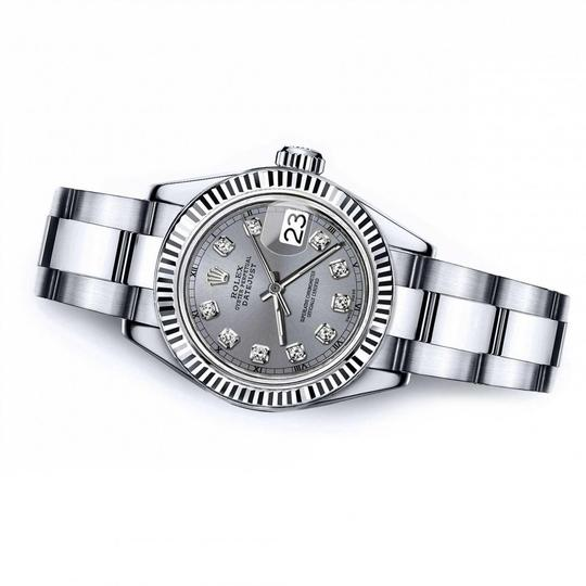 Rolex Men's Rolex 36mm Datejust Grey Color Dial with Diamond Accent RT Image 2
