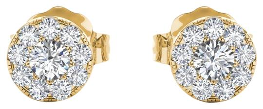 Preload https://img-static.tradesy.com/item/24100648/10kt-yellow-gold-033-ct-halo-diamond-stud-earrings-0-1-540-540.jpg