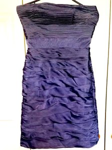 Monique Lhuillier Silver / Grey Polyester 220012 Modern Bridesmaid/Mob Dress Size 6 (S)