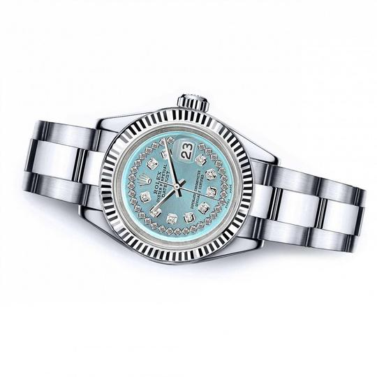Rolex Men's Rolex 36mm Datejust Ice Blue String Diamond Accent Dial Image 1