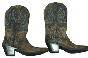 Ariat brown with subtle teal design Boots