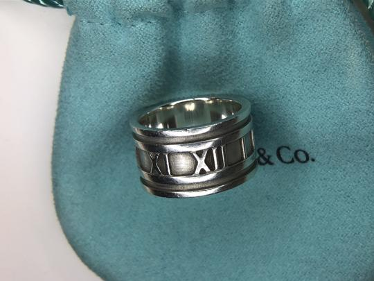 Tiffany & Co. ATLAS Roman Numeral Wide Band Ring in Sterling Silver 4.75 Image 5