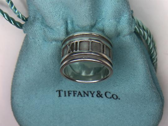 Tiffany & Co. ATLAS Roman Numeral Wide Band Ring in Sterling Silver 4.75 Image 6