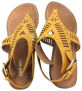 Nine West Yellow Sandals
