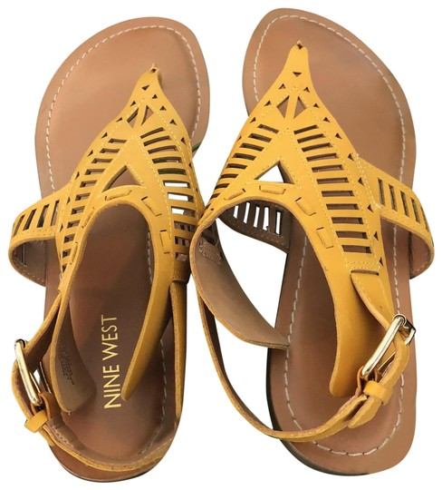 Nine West Yellow Sandals Image 0