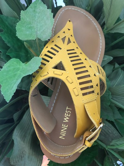 Nine West Yellow Sandals Image 1