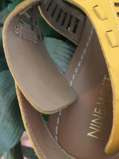 Nine West Yellow Sandals Image 3