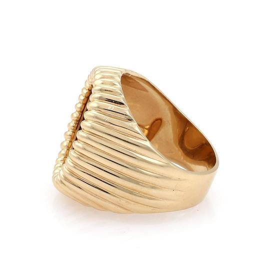 Other Estate 22k Indian Head Coin 14k Yellow Gold Fancy Fluted Men's Ring Image 4